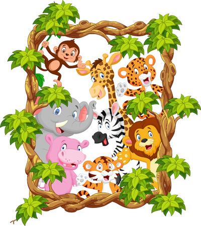 コレクション動物サファリ  イラスト・ベクター素材