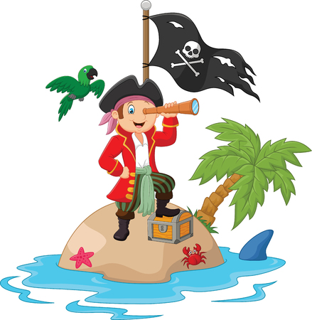 pirate crew: Little kids trapped in areas of the island treasure