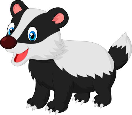 animal: Cartoon animal badger