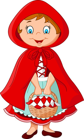 cartoon little red riding hood: Cartoon fairy princess with robe
