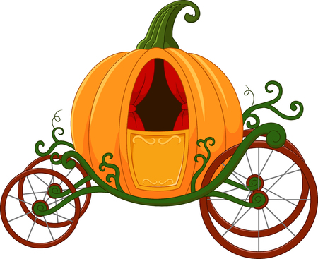 Cartoon Pumpkin carriage 向量圖像