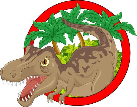 enormous: Cartoon big dinosaur illustration Illustration