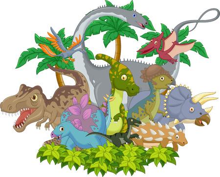 Cartoon animal dinosaur Illustration