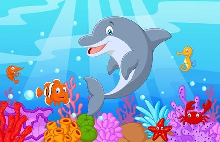 Dolphin: Đứng Dolphin Minh họa với cá thu
