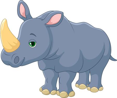 Cute Rhino cartoon Illustration