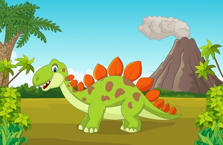 dinosauro: Cute cartoon dinosauro Vettoriali