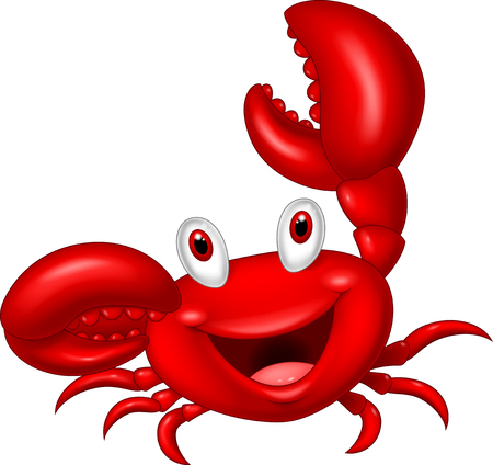 Cute crab cartoon Ilustracja