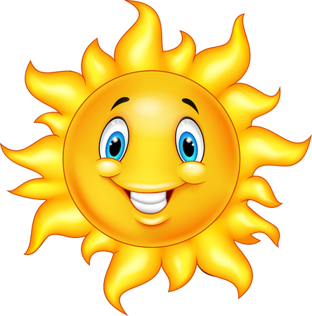 sunny season: Cute cartoon sun