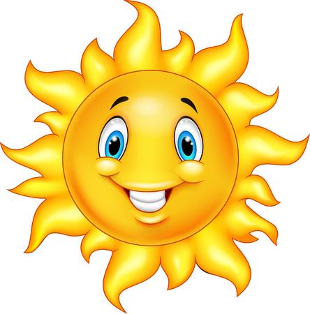 s úsměvem: Roztomilý kreslený slunce