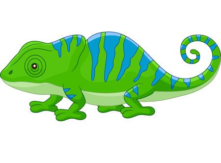 cute cartoon: Cartoon cute Chameleon