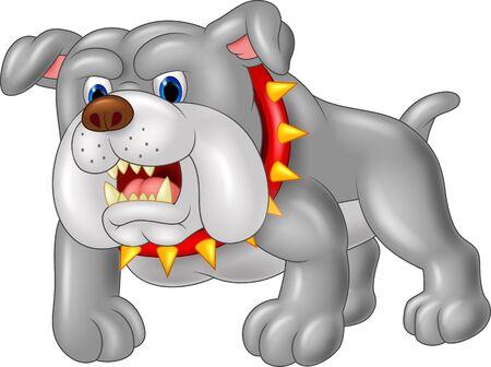 perro furioso: Casa de perro guardi�n de la historieta. ilustraci�n vectorial Vectores