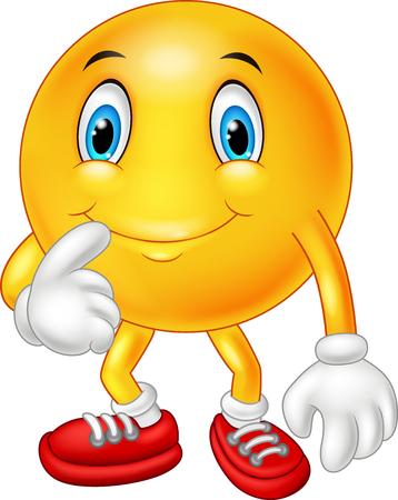 carita feliz: Imaginación adorable pensamiento emoticono