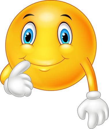 exited: Happy emoticon fantasized on white background Illustration