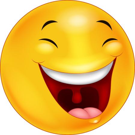 행복 웃는 얼굴 이모티콘 만화 일러스트