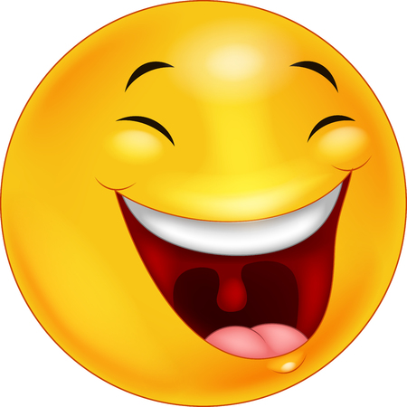 Gelukkig smileygezicht emoticon cartoon