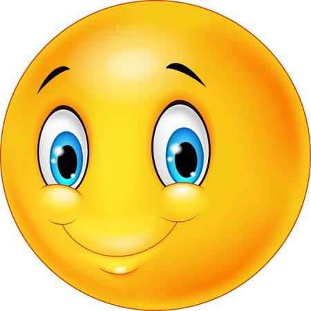 smiles: Cartoon emoticon smile on transparent background