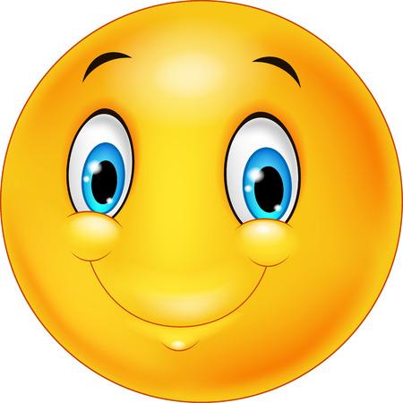 cara sonriente: Emoticon sonriente feliz Vectores