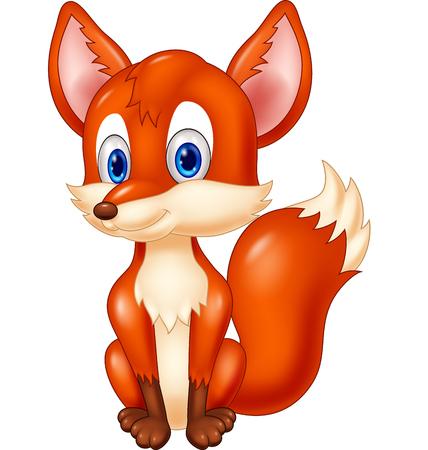 tail: Cartoon animal fox illustration