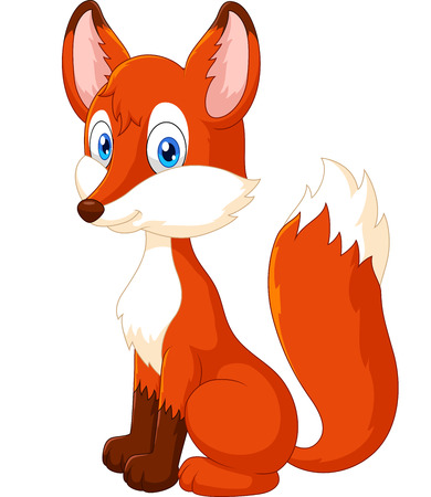 Adorable fox cartoon
