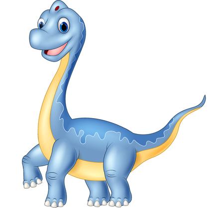 dinosaurio caricatura: Dinosaurio de la historieta Vectores
