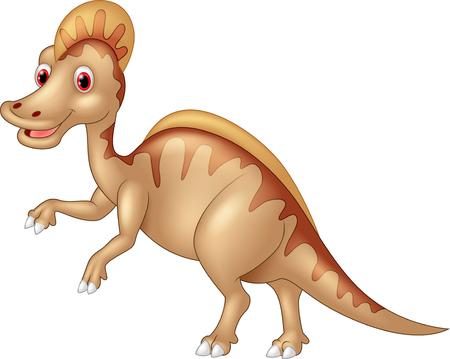 jaszczurka: Agresywne kredy Spinozaur dinozaura lub spiny jaszczurki samodzielnie na białym tle Ilustracja