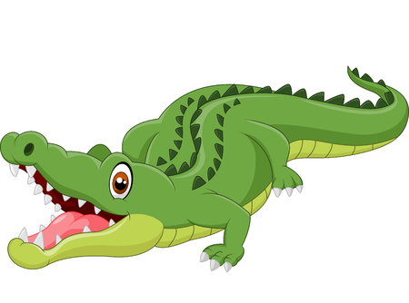 Cartoon krokodil Stock Illustratie