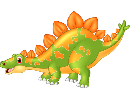 stegosaurus: Gran Stegosaurus dinosaurio de la historieta