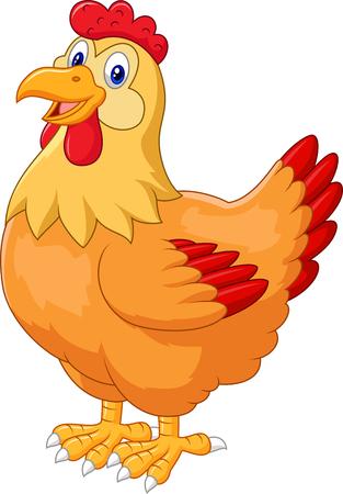 Chicken hen cute on white background