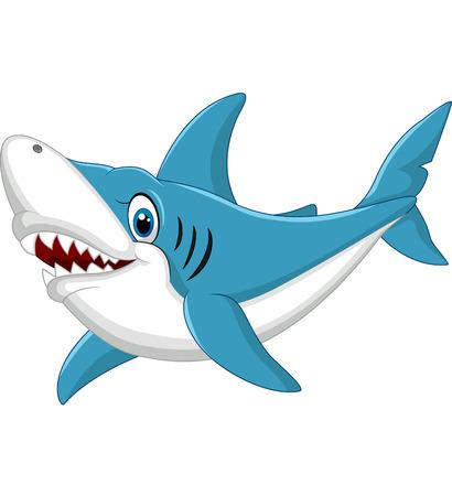 shark cartoon: Ilustración de dibujos animados Shark