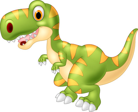 Adorable dinosaur tyrannosaurus isolated on transparent background