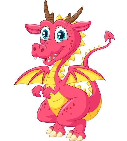 cute cartoon: Cartoon cute dragon