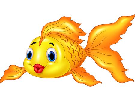 brilliant   undersea: Cartoon Goldfish on Transparent Background Illustration