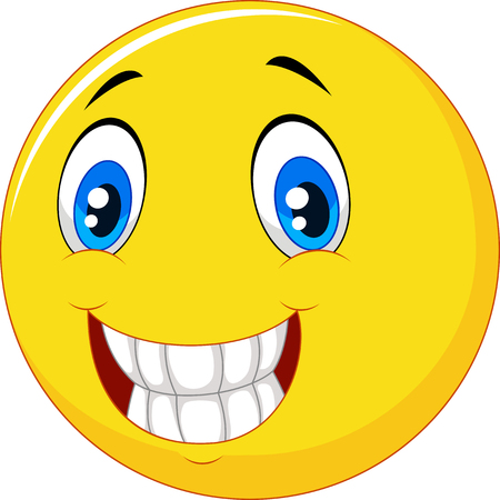Vector illustration of Happy smiley face
