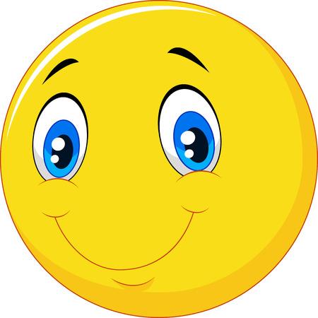 illustration of Happy smile emoticon on white background