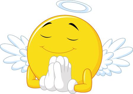 saint: illustration of Angel emoticon Illustration