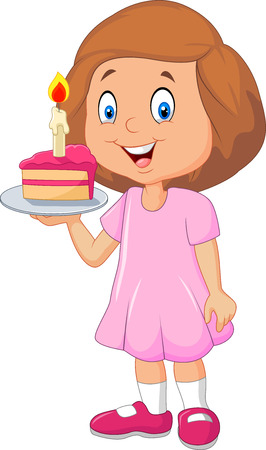 1047 Girl Eating Cake Stock Illustrations Cliparts And Royalty