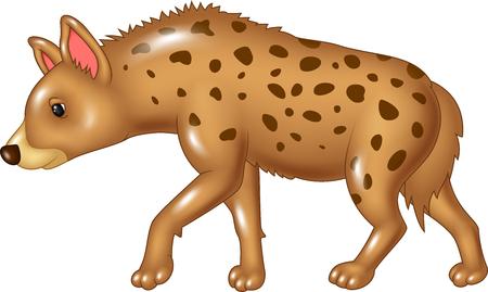 child laughing: Vector illustration of Cartoon hyena walking isolated on white background Illustration