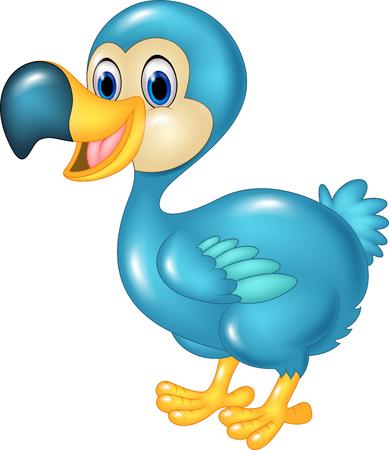 twee: Vector illustration of Cute animal dodo bird isolated on transparent background Illustration