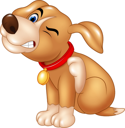 dog: Vector illustration of Cartoon dog scratching an itch