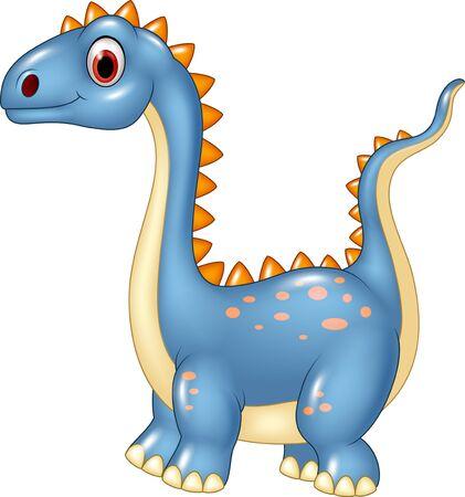 brachiosaurus: Vector illustration of Cartoon cute dinosaur isolated on white background