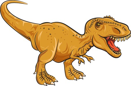 Vector illustration of Tyrannosaurus Rex character isolated on white background