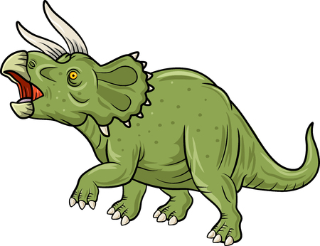 triceratops: Vector illustration of Cute Triceratops three horned dinosaur isolated on white background Illustration