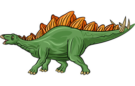 stegosaurus: Ilustraci�n del vector del Stegosaurus de la historieta aislado en el fondo blanco Vectores