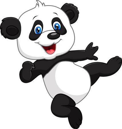 Vector illustration d'un bébé panda adorable isolé sur fond blanc