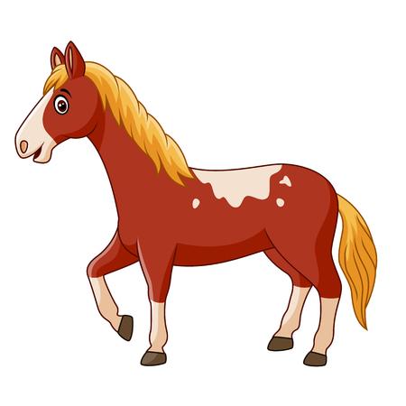 Vector illustratie van mooie paard poseren geïsoleerd op een witte achtergrond Stock Illustratie