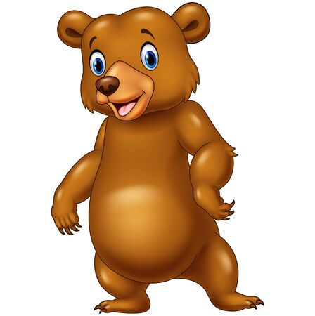 cute bear: Vector illustration of Cute bear standing isolated on white background