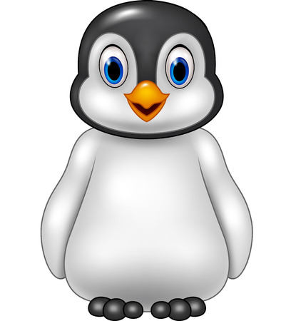 baby isolated: Vector illustration of Cute baby penguin posing isolated on white background Illustration