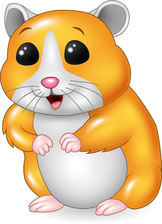 Vector illustration of Cute hamster posing isolated on white background Illustration