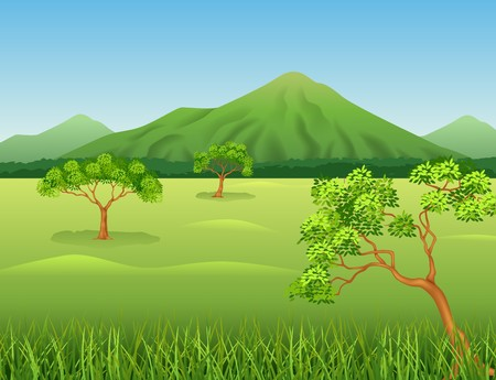 beauty smile: Vector illustration of Beautiful jungle background Illustration