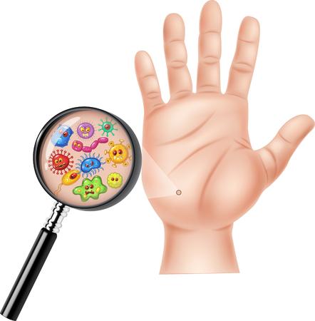 manos sucias: Ilustración del vector de la mano sucia